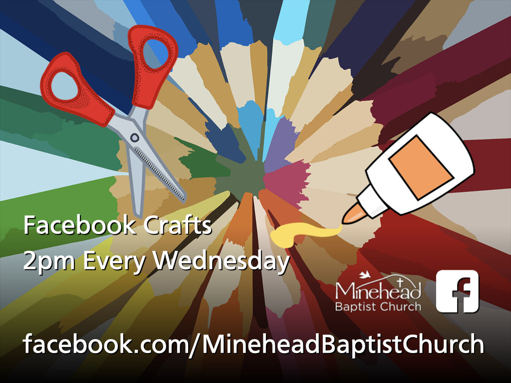 Facebook Crafts - Wednesdays at 2pm on Facebook