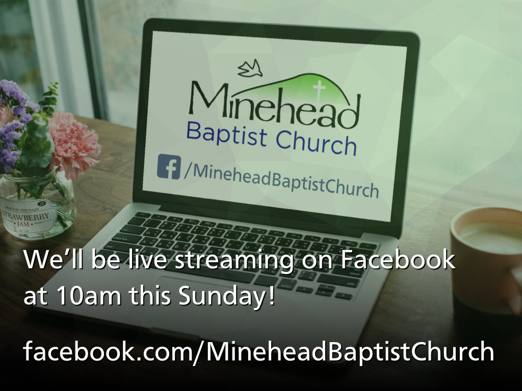 We'll be live streaming on Facebook at 10am this Sunday!