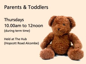 Parents & Toddlers - Thursdays 10.00am to 12noon at The Hub (in Term Time)