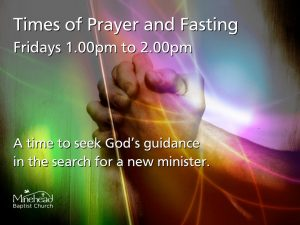 Prayer & Fasting - Fridays 1pm to 2pm